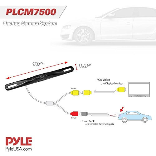 pyle backup camera wiring diagram 7500 pyle backup car camera rear view screen monitor system ... honda pilot backup camera wiring diagram