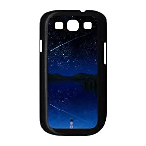 Samsung Galaxy S3 9300 Cell Phone Case Black_Girl and Stars TR2461125