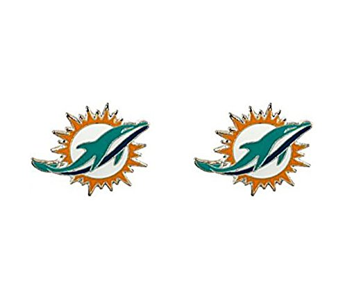 NFL Logo Post Earrings (Miami Dolphins)