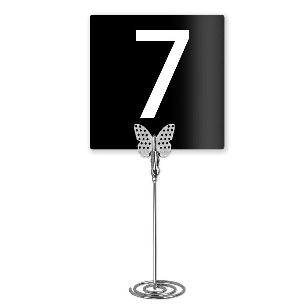 Silver 10 segnaposto a forma di farfalla porta memo con clip per foto e numeri da tavolo