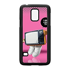 I Am a Real TV Black Hard Plastic Case Snap-On Protective Back Cover for Samsung? Galaxy S5 Mini by Gangtoyz + FREE Crystal Clear Screen Protector