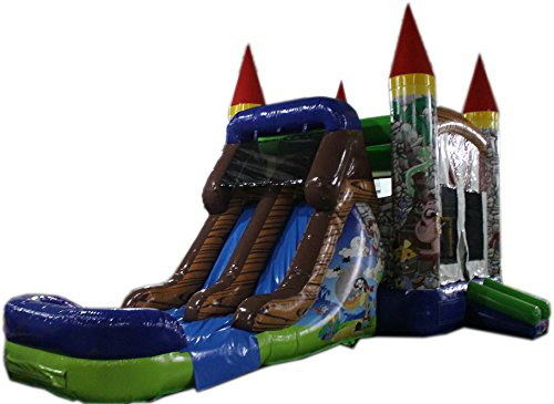 (Commercial Grade 28 Foot Pirate Wet/Dry Combo Bounce House Inflatable)