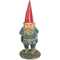 Sunnydaze Garden Gnome Gus The Original, Outdoor Lawn Statue, 9.5 Inch Tall