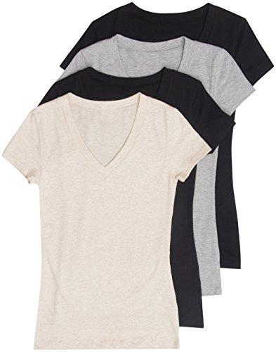 Zenana Womens Basic V Neck T Shirts