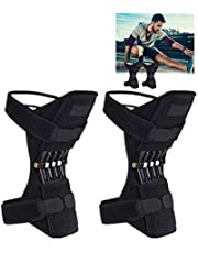 Gotd Powerlift Knee Protection Leg Knee Band Mountaineering Deep Care Joint Support Knee Pads Powerful Rebound Spring Force Adjustable Bi-Directional Straps for Joint Pain Relief