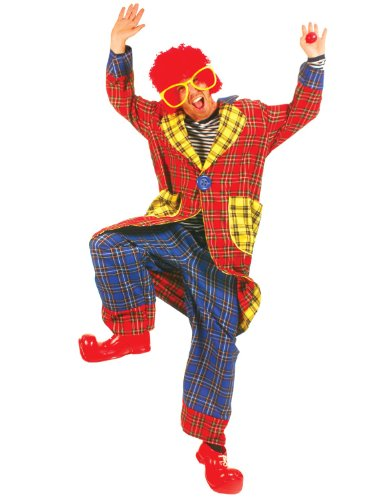 Plaid Pickles Adult Clown Lg Large - (Adult Pickle Costumes)