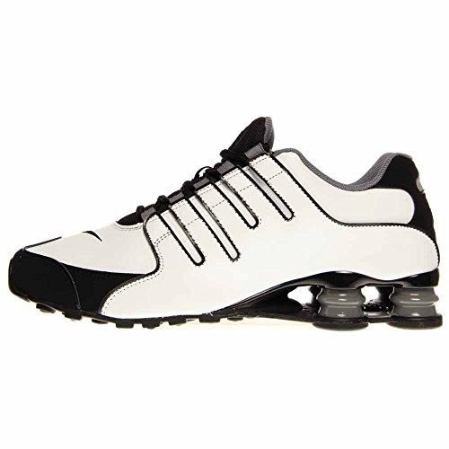 Nike Herren Shox NZ EU Laufschuhe Weiß / Schwarz-cooles Grau-metallisches Silber