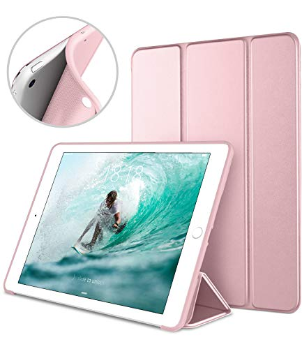 DTTO Mini Case for iPad Mini 3/2/1, (Not Compatible with Mini 5th Generation 2019) Ultra Slim Lightweight Smart Case Trifold Cover Stand with Flexible Soft TPU Back Cover [Auto Sleep/Wake],Rose Gold