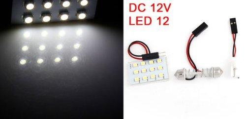 Amazon.com: eDealMax Auto Blanca 12 1210 SMD LED Luz Para leer mapa w adaptador de Adorno T10: Automotive