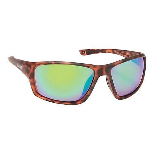 Coyote Eyewear Floating Polarized Sunglasses, Tortoise, Brown/Green Mirror