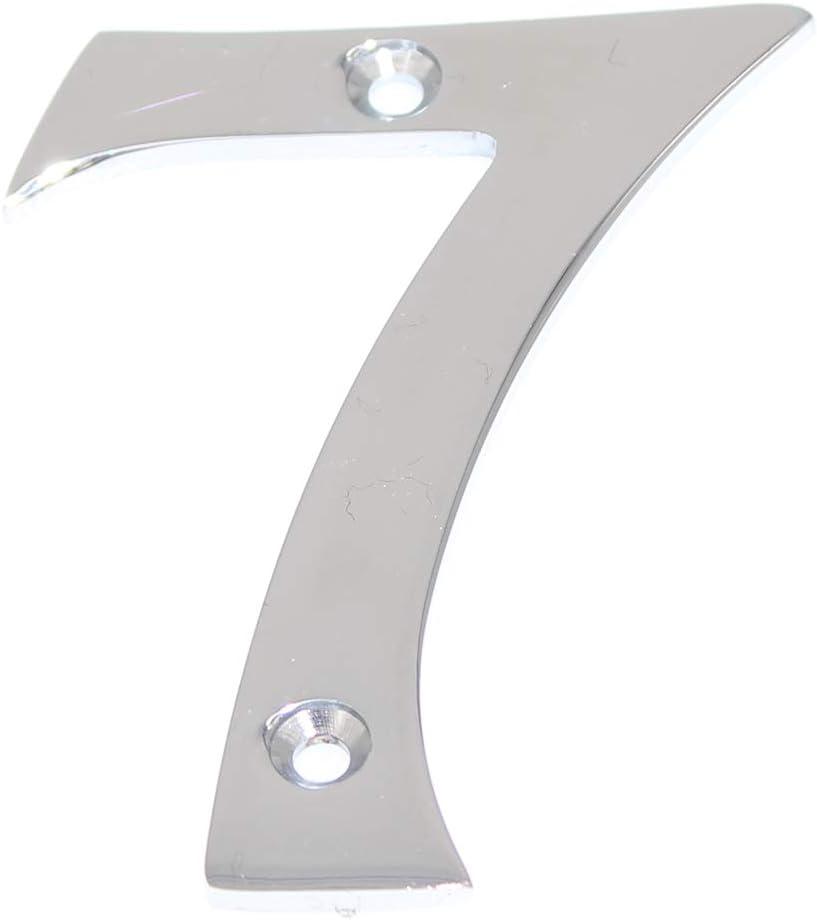 ZW Hardware A220 75mm lat/ón macizo cromado enchapado n/úmero de casa 0