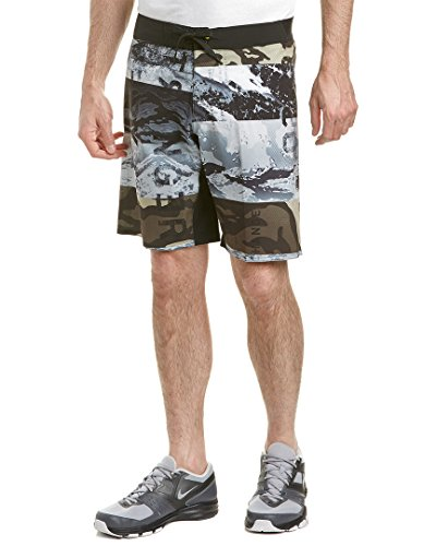 Reebok Men's One Series Winter Camo Sublimated Shorts, Medium, Coal S16-R