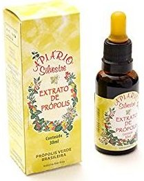 2 Bottle Units Of Apiario Silvestre Brazilian Green Propolis Traditional Extract 30 ml By JLBrazil