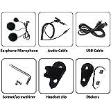 Gelaten BT-S3 Motorcycle Helmet Headset Intercom Communication Systems Earphone accessories(A set)
