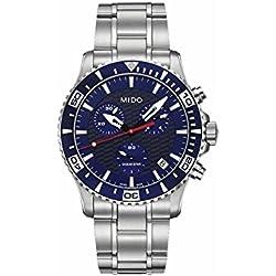 Mido M0114171104102 Watch Ocean Star Mens - Blue Dial Quartz Movement