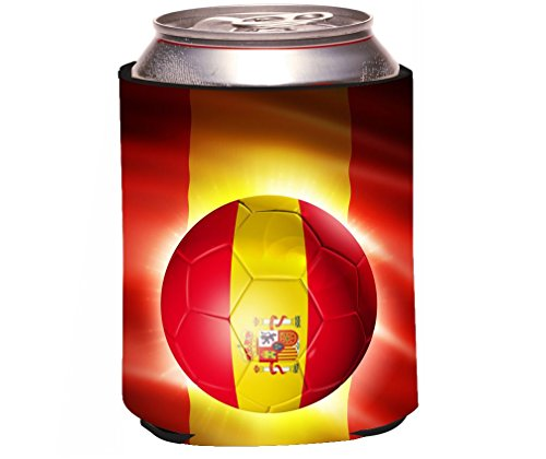 Rikki Knight RKws-44251 Brazil World Cup 2014 Spain Team Football Soccer Flag Design Beer Can/Soda Drink Cooler by Rikki Knight