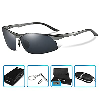 COSVER 8003 Men's Sports Style Polarized Sunglasses for Driving Fishing Golf Glasses
