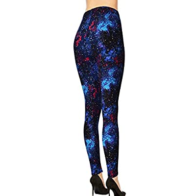 VIV Collection Popular Printed Brushed Buttery Soft Leggings Regular Plus 40+ Designs List 1 at Women's Clothing store