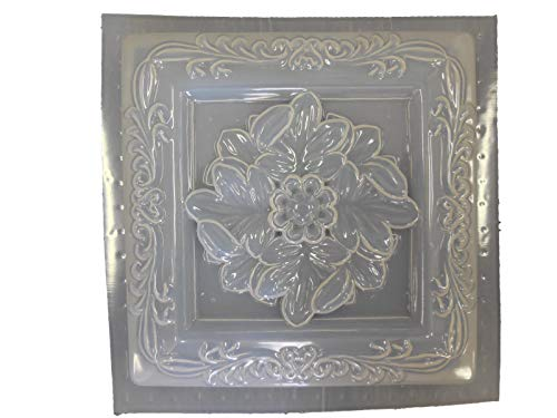 Square Leaf Plaque Concrete Plaster Mold 7067 ()