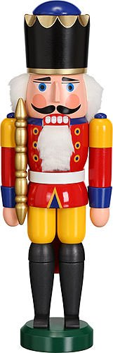 - Seiffener Volkskunst German nutcracker King red, height 29 cm / 11 inch, original Erzgebirge by SV 11301/1