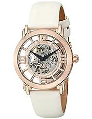 Stuhrling Original Women's 156.124W14 Classic Wall Street Winchester Automatic Skeleton White Watch