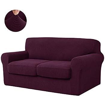Amazon Com Chun Yi 3 Piece Jacquard High Stretch Sofa