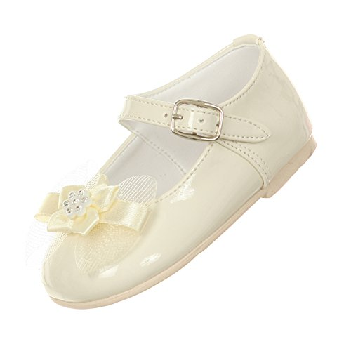 infant size 4 ivory dress shoes - 7