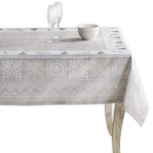 Maison d' Hermine Cozy Christmas 100% Cotton Tablecloth 54 Inch by 54 Inch.]()