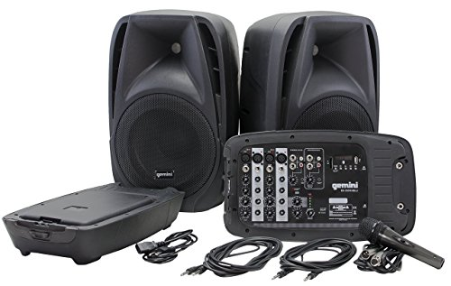 (Gemini ES Series ES-210MXBLU Professional Audio Portable PA System with Two 10