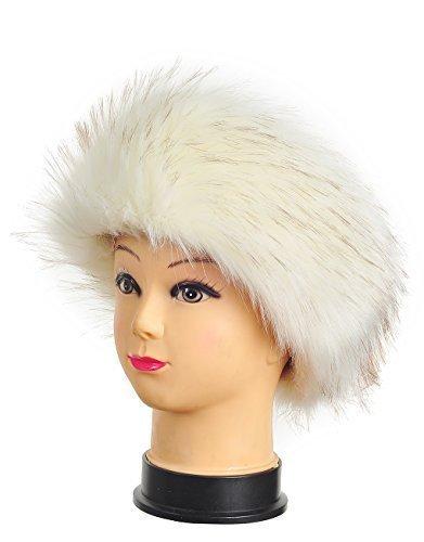 Haute Für Divas Womens Flauschig Kunst Washbär Pelz Promi Kopfband Damen Winter Ski Ohrenwärmer Wärmer Hut
