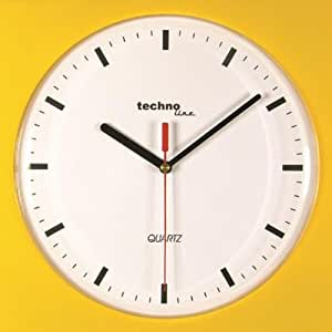 Technoline WT 610 - Reloj de pared de cuarzo, color amarillo [Importado de Alemania]