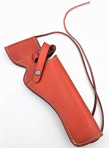 Premium Gun Grips Gunslinger Heritage Rough Rider & Ruger Wrangler 4.75 + 6.5 Smooth Brown Leather RH 6