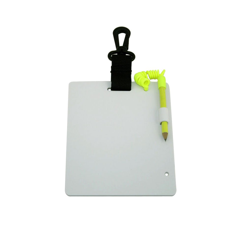 "Underwater Writing Slate 7.25"" x 6"" for scuba dive snorkeling divers fishing diving, available for different style, w/ compass, and glow-in-dark Promate"