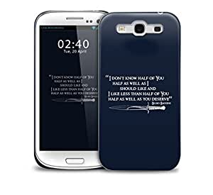dont know billbo baggins lord of the rings Samsung Galaxy S3 GS3 protective phone case