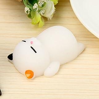 Ywoow Cute Mochi Cat Squeeze Healing Fun Kids Kawaii Toy Stress Reliever Decor
