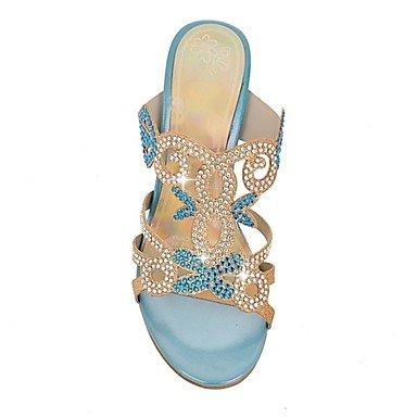 cn34 regalo mejor y madre El Zapatos us5 Punta eu35 y Plataforma Boda Personalizados Mujer Fiesta Innovador Verano Purpurina uk3 para Sandalias mujer para Noche Materiales Confort abierta dFIwqw