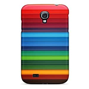 Fashion Tpu Case For Galaxy S4- Colors And Lines Defender Case Cover