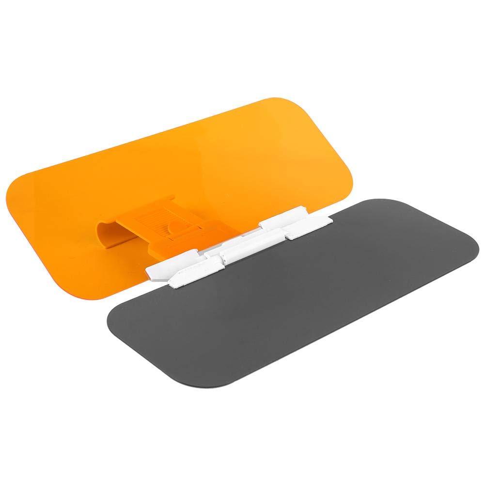 2 in 1 transparentes blendfreies Glas Auto-Sonnenschutz f/ür Tag und Nachtfahrten verwendet Auto-Sonnenblende-Extender
