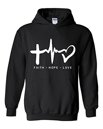 Artix Faith Hope Love - Best Selling Cancer Designs Unisex Hoodie Sweatshirt Large Black
