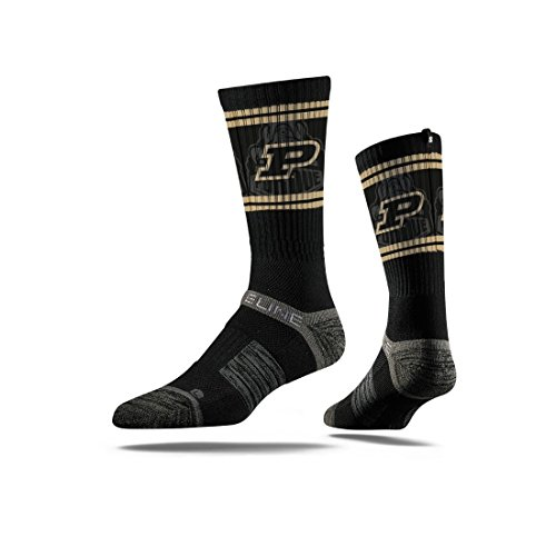 (Purdue University Boilermakers Socks | Purdue University | Strideline Black)