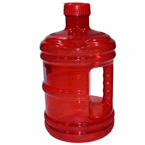 EliteMailers BPA Free New Plastic Reusable H2O Water Bottle 1 Gallon Drinking Container 128oz, Jug, Juice, (128 Oz Jug)