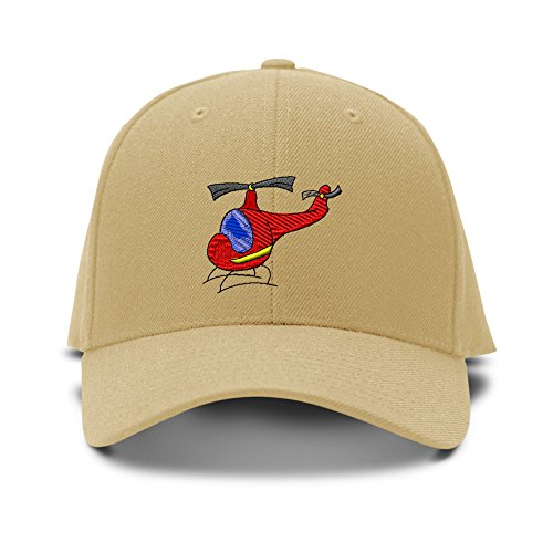 Toy Helicopter Embroidery Embroidered KID CHILDREN SIZE Adjustable Cap Hat (Helicopter Hats)