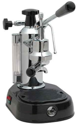 La Pavoni EPBB-8 Europiccola 8-Cup Lever Style Espresso Machine, Black Base