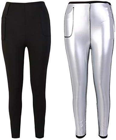 Leggings Pour le Jogging de Gymnastique Pantalon de Yoga Extensible Ducomi Pantalon de Sauna en N/éopr/ène Avec Poches Lat/érales Exercice de Course Body Shaper et Taille-Taille Pour Femmes