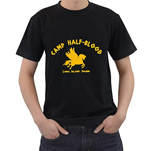 [Camp Half Blood Long Island Sound T-Shirt Short Sleeve By Saink Black Size L] (Athena Adult Plus Costumes)