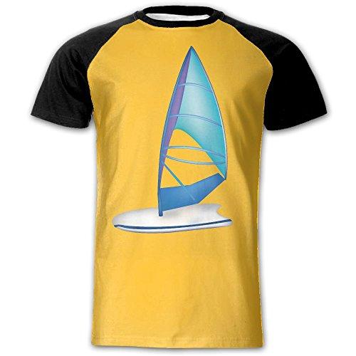 Hsgy Tshirt Sunfish Sailboat Men O Neck Raglan T-Shirts Casual Short Sleeve Top Tees Baseball Shirts