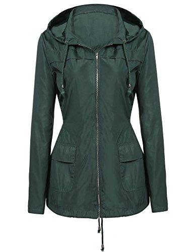 zip up rain coat - 2