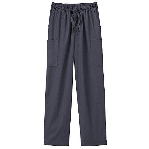 (White Swan Fundamentals 14843 Unisex Five Pocket Scrub Pant Charcoal S)