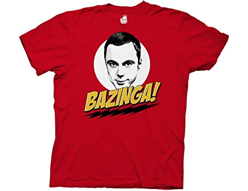 Ripple Junction Big Bang Theory Bazinga with Sheldon Adult T-Shirt 3XL Red -