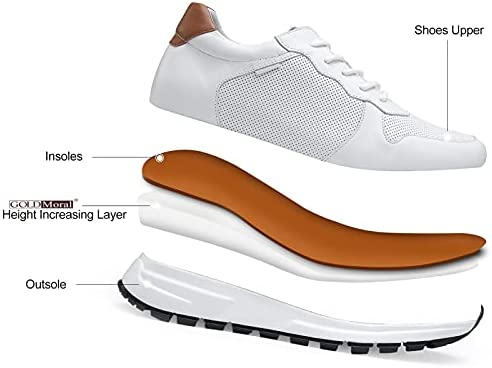 41ZWE77XgZS. AC GOLDMoral Men Shoes Elevator for Man Men's Fashion Sneakers Mens White Leather Running    Product Description